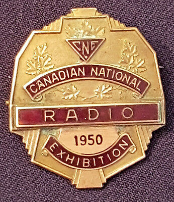 1950 - Canadian National Exhibition - Cne - Radio - Original - Badge
