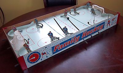 Eagle Family  hockey game 1950's table top hockey game with shorty players