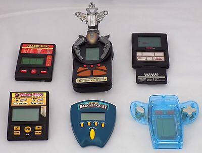 Lot of 6 Vintage Electronic Handheld Games - Tested and Working