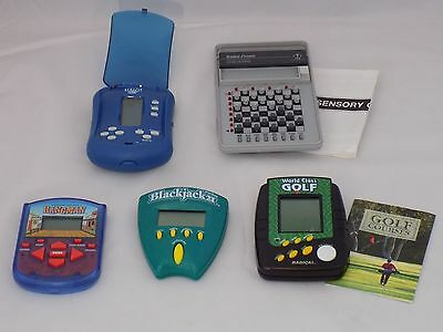 Lot of 5 Vintage Electronic Handheld Games - Tested and Working