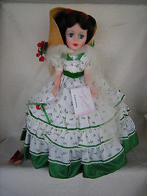 "Madame Alexander Scarlett Green Picnic Dress 21"" Doll Scarlett Series"