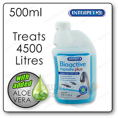 Interpet Bioactive Tapsafe Plus 500ml Aquarium Tap Water Dechlorinator Treatment