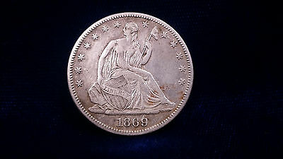1869 Seated Liberty Half Dollar **SEMI KEY DATE; GREAT CONDITION**