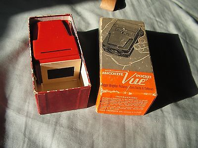 VINTAGE Vintage Micoette Pocket Vue Slide Viewer in Original BOX