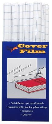 Self Adhesive Book Cover Film 33cmx1m High Quality Clear Plastic Sticky Back