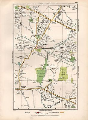 1936 Large Scale Map -  London Hayes End Yeading Southall Cranford Botwell Harli