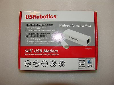 U.S. Robotics USR5637 WINDOWS 7 , High-performance V.92 modem 56Kbps USB