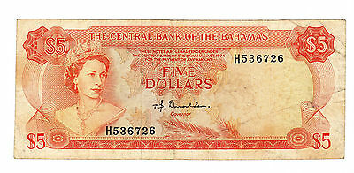Bahamas - 1974, Five (5) Dollars