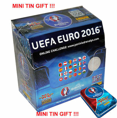 EURO 2016 France Adrenalyn XL Panini BOX (50 x Booster) + MINI TIN GIFT !!!