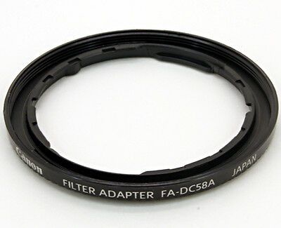 NEW Genuine Canon FA-DC58A Filter Ring Adapter, add 58mm thread PowerShot Pro 1