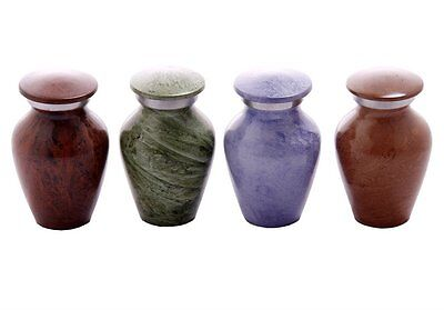 Set of 4 Shades of Marble Memorial Keepsake - Token Keepsake Urns