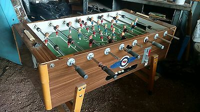 VINTAGE DEUTSCHER MEISTER Coin Operated Foosball Table - Deutscher meister foosball table