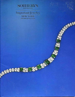 Sotheby's NY Important Jewelry 6/12/90 Sale Code 6031