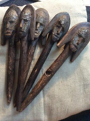 5 Antique African Janus Puppets, Fortune Telling, Ritual Magic, Soothsaying?