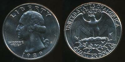 United States, 1989-P Quarter, 1/4 Dollar, Washington - Uncirculated