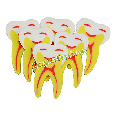 3PCS Lovely Tooth Style Rubber Pencil Eraser Office Stationery Gift Toy