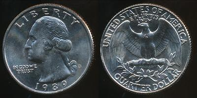 United States, 1989-D Quarter, 1/4 Dollar, Washington - Uncirculated