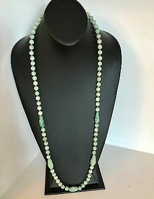 Superb ~TESTED Emerald Green JADE~ Qing Chinese Jade Necklace ~79 Carved Beads~