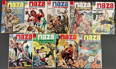 Naza Stone Age Warrior 1964 Dell #1 To 9 Complete Dinosaurs,monsters More!