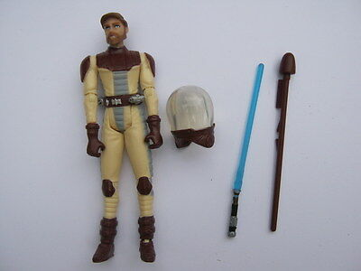 STAR WARS Action Figure - OBI WAN KENOBI Clone Wars CW12 - 9.5cm Tall - 2009 LFL