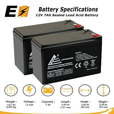 ExpertBattery 2 Pack - BATTERY REPLACEMENT. ENDURING 6-DW-7 12V 7AH UB1270