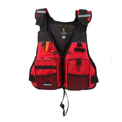 Adjustable Adult Kids Life Jacket Swimming Boating Rafting Vest with Whistle
