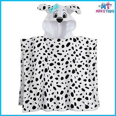 Disney 101 Dalmatians Hooded Towel for Kids 100% Cotton brand new