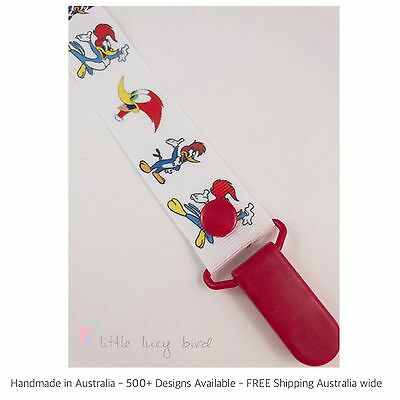Woody Woodpecker  Hand Made Dummy/Pacifier Clip/ Chain (DC100214).