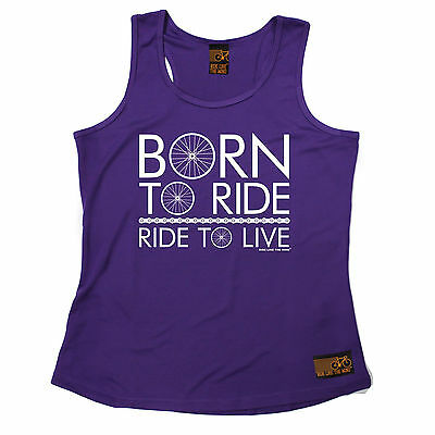 Born To Ride Ride To Live RLTW WOMENS DRY FIT VEST singlet cycling mothers day