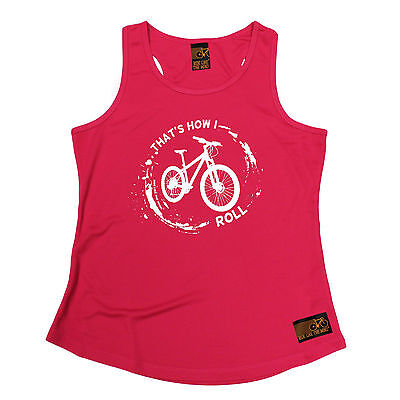 Thats How I Roll RLTW WOMENS DRY FIT VEST singlet cycling cyclist mothers day