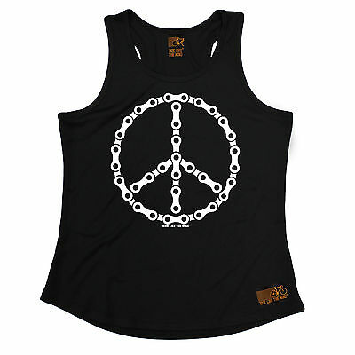 Peace Bicycle Chain RLTW WOMENS DRY FIT VEST singlet cyclist cycling mothers day
