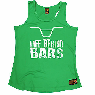 Life Behind Bars BMX RLTW WOMENS DRY FIT VEST singlet cyclist cycle mothers day