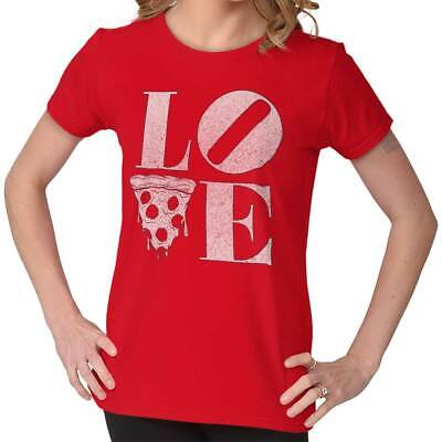 Love Pizza Cute Shirt Funny Cool Valentine Day Gift Idea Womens T