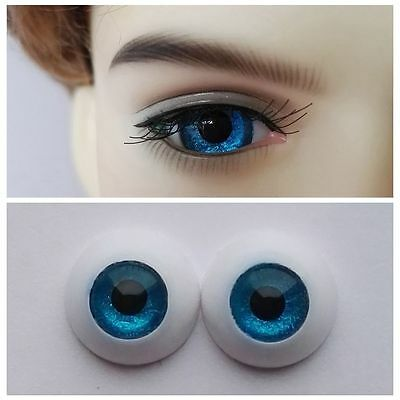 Blue - BJD Eyes - 8mm 10mm 12mm 14mm 16mm 18mm 20mm 22 MSD SD13/10 Doll Dollfie