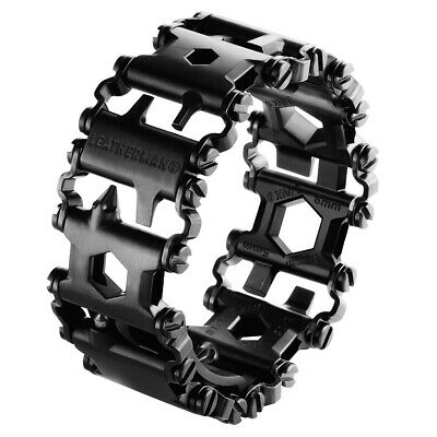 NEW Leatherman TREAD Black Stainless Steel Multitool Bracelet AUTH AUS SELLER