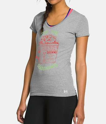Under Armour Womens Charged Cotton Old Bay Tis the Seasoning T Shirt  XS  Medium
