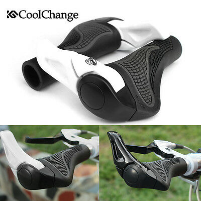 CoolChange MTB Mountain Bike Bicycle Handlebar Rubber Grips Cycling Lock-On Ends