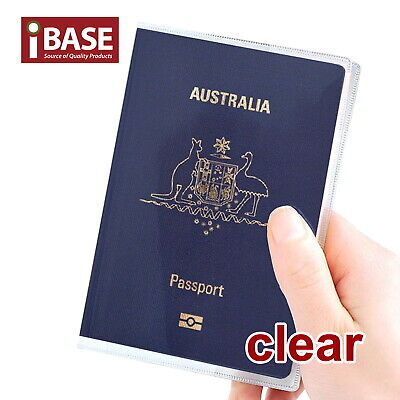 Passport Cover Transparent Clear Frosted Protector Travel Holder Organiser Carry