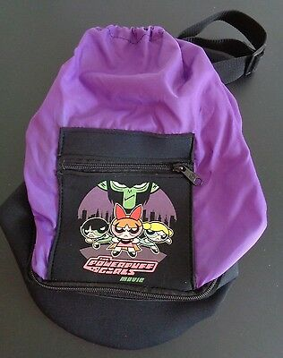 THE POWERPUFF GIRLS MOVIE Promotional PROMO Drawstring Bag CARTOON NETWORK