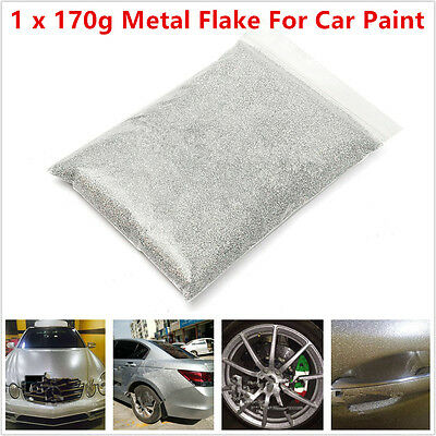 """6oz / 170g Silver Metal Flake 0.4mm/0.016"""" For Car Auto Paint Additive Universal"""