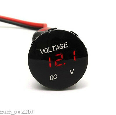 Mini DC12V Red LED Panel Digital Voltage Meter Display Voltmeter Car Motorcycle