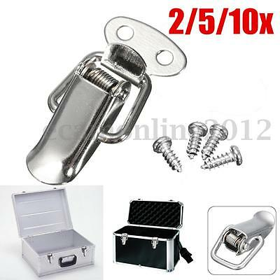 2/5/10PCS Stainless Steel Spring Toggle Latch Catch For Cases Boxes Chests Lock