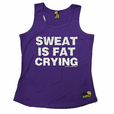 Sweat Is Fat Crying SWPS WOMENS DRY FIT VEST mothers day gift workout gym