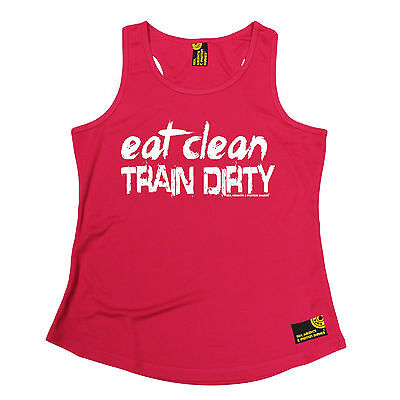 Eat Clean Train Dirty SWPS WOMENS DRY FIT VEST mothers day gym fitness training