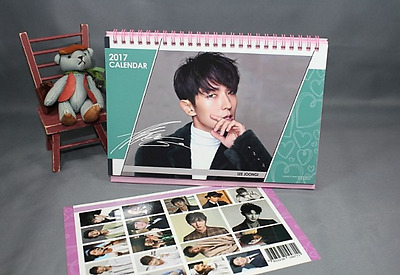 LEE JUN KI Calendar+Sticker 2017-2018 Two year Desk Calendar Actor LEE GOON GI