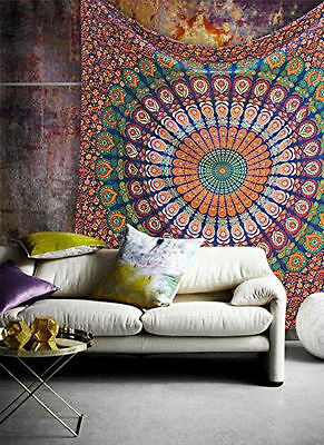 Twin Tapestry Wall Hanging Indian Hippie Mandala Bedspread bohemian Ethnic Throw