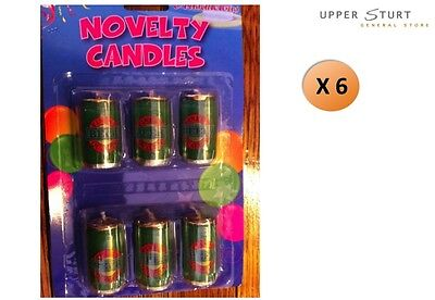 Beer Can Candles Set 6 Piece Novelty Party Supplies FAST 'N FREE DELIVERY