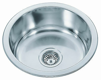 #304 Stainless Steel Kitchen Sink - Round Bowl (42cm)