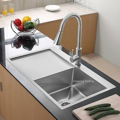 #304 (18-10) Stainless Steel Kitchen Sink - Square Bowl (75cm x 40cm)