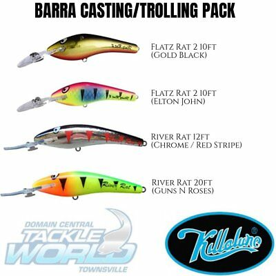 Killalure Jack and Barra Pack (4 Lure Value Pack) BRAND NEW